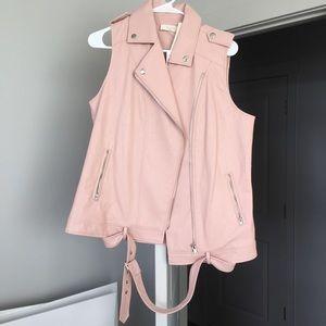 Jackets & Blazers - Pink Faux Leather Vest